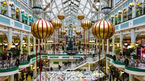 Centros comerciales con las decoraciones navideñas más bonitas de Dublín