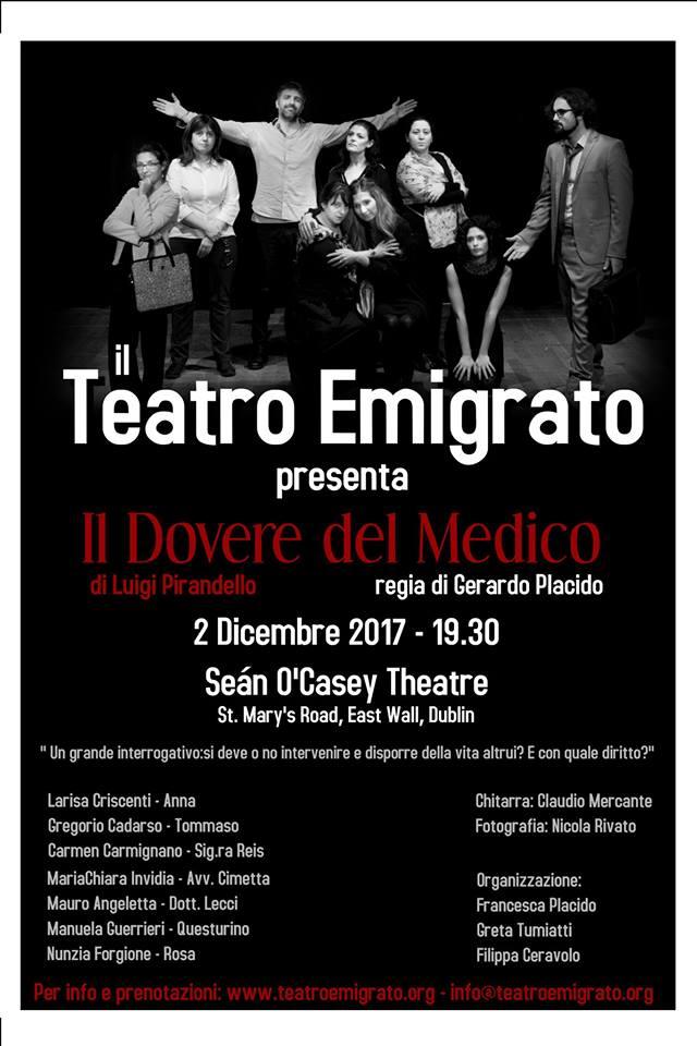 teatro español e italiano en Dublín