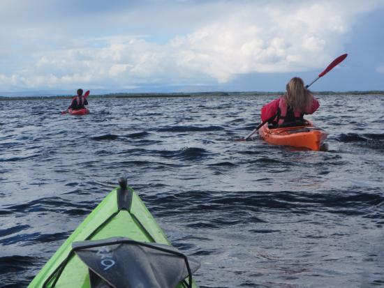 Kayak en el río Corrib